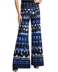 Joseph Ribkoff Abstract Print Wide Leg Trousers
