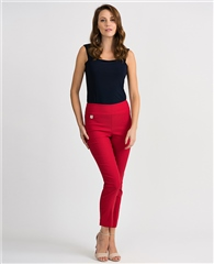 Joseph Ribkoff Essentials Pull On 7/8th Trousers - Lipstick Red