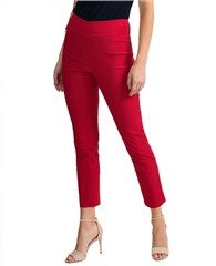 Joseph Ribkoff Pull On 7/8th Trousers - Lipstick Red