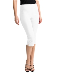 Joseph Ribkoff Pull On 3/4 Length Trousers - White