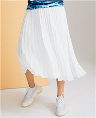 Just White Pleated Skirt