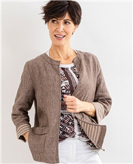 Olsen Edge To Edge Linen Jacket