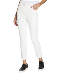 Olsen 'Mona' Slim Fit Cropped Jeans - White