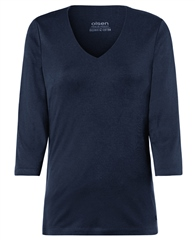 Olsen V-Neck 3/4 Sleeve T-Shirt - Navy