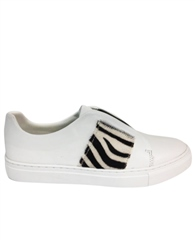 Philip Hog 'Elastic' Zebra Print Detail Slip On Trainers