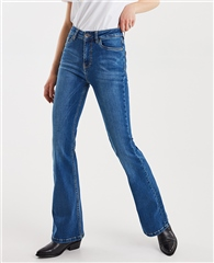 Pulz 'Liva' Ultra Highwaisted Flared Jeans
