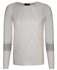 Rabe Embellished Text Jumper
