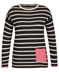 Rabe Pocket Detail Striped Jumper