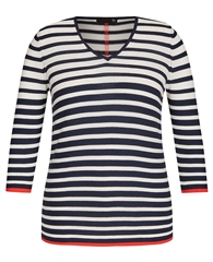 Rabe Striped V-Neck Jumper
