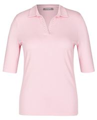 Rabe Embellished Cotton Polo Shirt - Peony