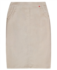 Relaxed by Toni My Darling' Knee Length Skirt - Beige