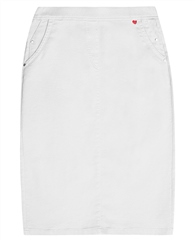 Relaxed by Toni My Darling' Knee Length Skirt - White