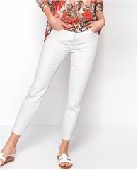 Toni 'Be Loved' 7/8th Slim Fit Jeans - White