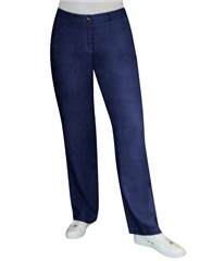 Toni 'Patty' Regular Fit Linen Trousers - Navy