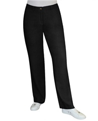 Toni 'Patty' Regular Fit Linen Trousers - Black