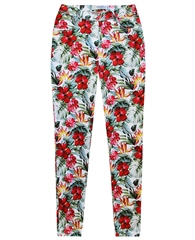 Toni Relaxed By  'My Best Friend' Hibiscus Print 7/8th Trousers