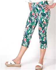 Toni 'My Best Friend' Tropical Print Cropped Trousers