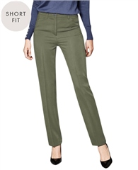 Toni 'Steffi' Short Fit Trousers - Khaki