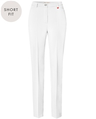 Toni 'Steffi' Short Fit Trousers - White