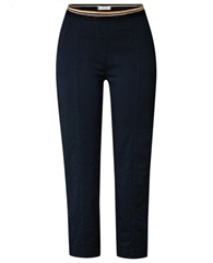 Toni 'Sue' Pull On Cropped Trousers - Dark Blue