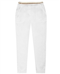 Toni 'Sue' Pull On Cropped Trousers - White