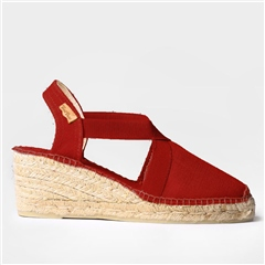 Toni Pons 'Ter' Linen Mid-Wedge Espadrilles - Red