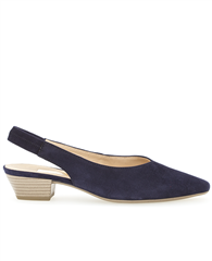 Gabor Slingback Low Heels - Blue