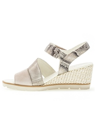 Gabor Snake Print Wedge Sandals