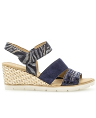 Gabor Zebra Print Wedge Sandals