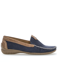 Gabor Contrast Detail Suede Loafers