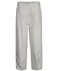 Two Danes 'Tanne' Striped Cropped Trousers - Dove