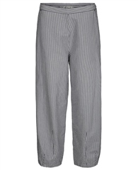 Two Danes 'Tanne' Striped Cropped Trousers - Deep Sea