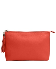Alison Van Der Lande Small Leather Clutch Bag - Salmon