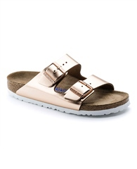 Birkenstock 'Arizona' Metallic Sandals - Copper
