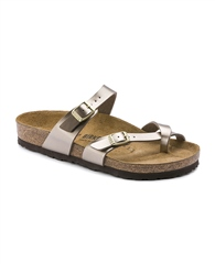 Birkenstock 'Mayari' Muted Metallic Sandals