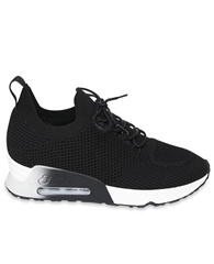 Ash 'Lunatic Bis' Lace Up Knit Trainers - Black