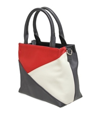 Envy Bags Colour Block Detachable Strap Grab Bag