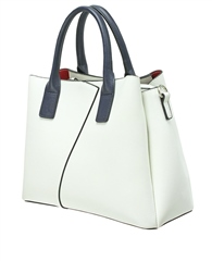 Envy Bags Contrast Detail Grab Bag - White