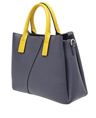 Envy Bags Contrast Detail Grab Bag - Navy