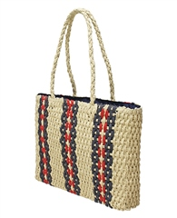 Envy Bags 'Aruba' Twin Strap Chunky Weave Handbag - Natural