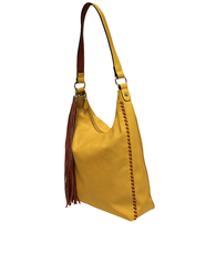 Envy Bags Stitch Detail Tassel Hobo Bag