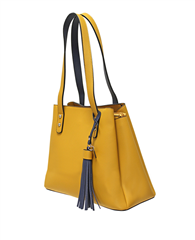Envy Bags Tassel Detail Shoulder Bag - Mustard