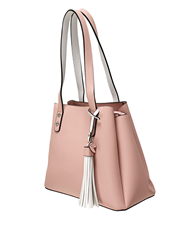 Envy Bags Tassel Detail Shoulder Bag - Pink