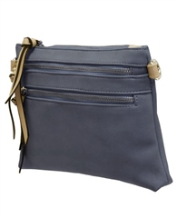 Envy Bags Zip Compartments Crossbody Bag - Navy