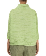 Grizas Linen/Silk Mix Crinkle Cowl Neck Blouse