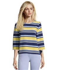 Betty Barclay Ribbon Detail Striped Top