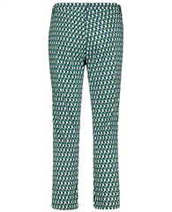 Betty Barclay Geometric Print Cotton Trousers