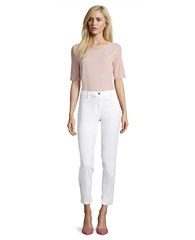 Betty Barclay Straight Fit Cropped Trousers - White
