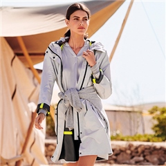 Betty Barclay Reflective Stripe Hooded Rain Coat - Antarctica