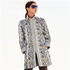 Betty Barclay Reversible Snakeskin Print Coat - Bright Kit
